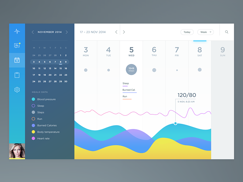 Design Calendar Using Javascript : Health app calendar by jakub antalík dribbble