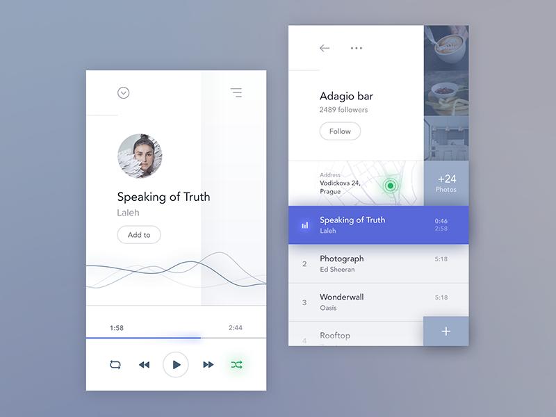 Social music app player music ios mobile profile app