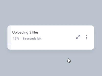 Upload window interactions
