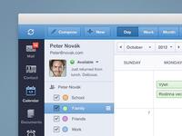 Email client calendar