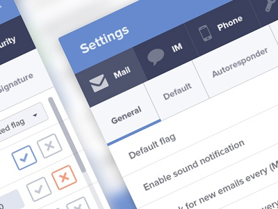 Webmail settings preview