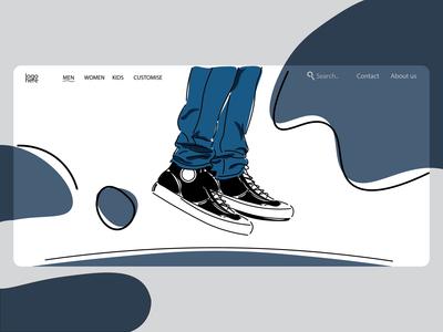 shoes shop landing page