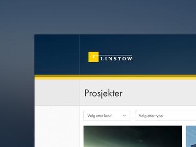 Linstow Redesign web design redesign large web design web development real estate property development
