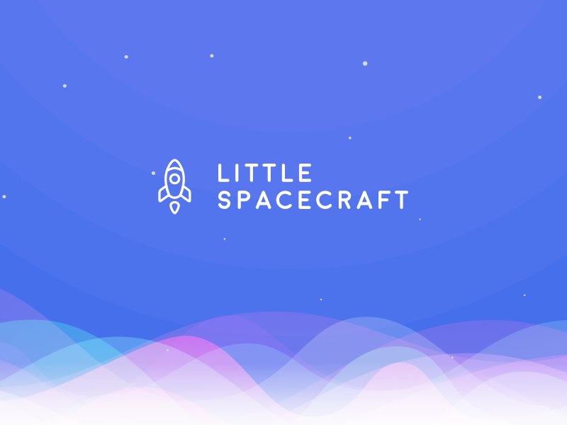 Little Spacecraft stars space little spaceship squarespace aurora branding logo