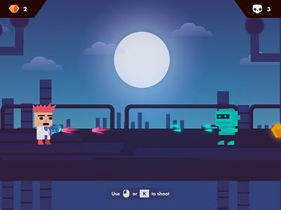 Between Two Worlds   Game Design   2-D Platformer game dev futuristic unity platformer 2-d world character levels design game game art game design