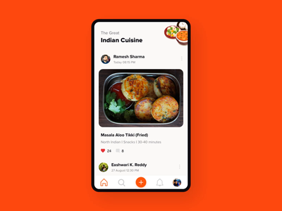 Recipe Sharing App after effects principle recipes india social network cooking recipe food animation app mobile android ui ux