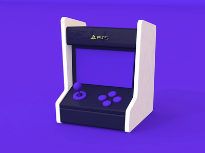 PlayStation 5   Gaming Console buttons joystick clay modelling game videogame console gaming c4d cinema 4d render 3d art 3d ps5 playstation5 playstation illustration animation