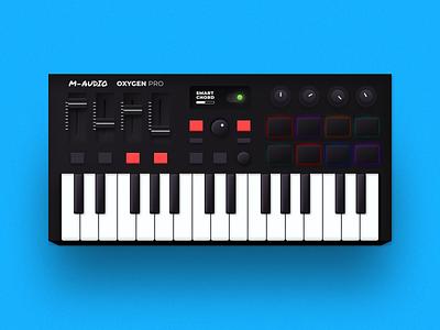 Skeuomorphic Keyboard   Figma dial slider illustration controls audio music keyboard plugin 3d figma skeuomorphic skeumorph skeuomorphism skeuomorph