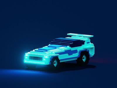 Voxel Car   NFT foundation crypto pixel illustration lowpoly cinema4d blender magicavoxel render artwork art nftart nfts nft 3d voxel