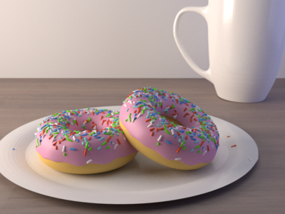 3D Donuts blender table cup donuts 3d