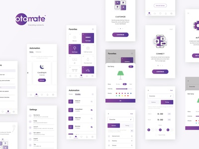 Otomate - Smart Home App | All Screens favorites schedules scenes android mobile ux ui automation app home smart otomate