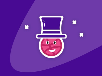 Dribbble Magic   Sticker Playoff ball hat stickermule playoff sticker magician magic dribbble