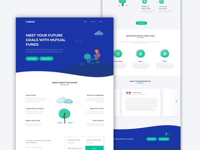 Mutual Funds | Landing Page Design web website illustration tax saving storytelling ux ui landing page mutual funds