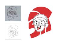 Face Doodle   The Process