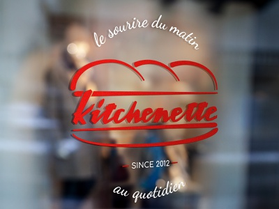 Kitchenette branding logo design illustration logo