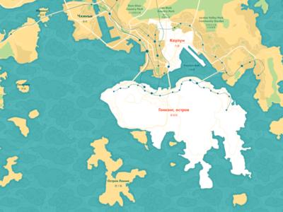 Hong Kong map for kommersantъ