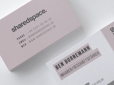 Business Card Design for SharedSpace. flat typography creative simple design minimalist branding business card