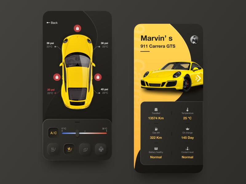 Car Remote Control App car mobile design app icon ui
