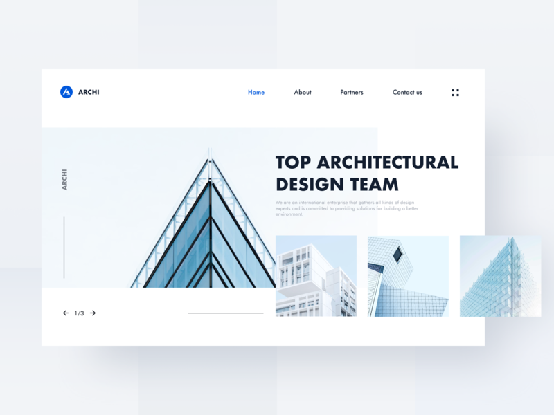 Architectural Agency Web Design - Home website blue clean branding mobile design home homepage web