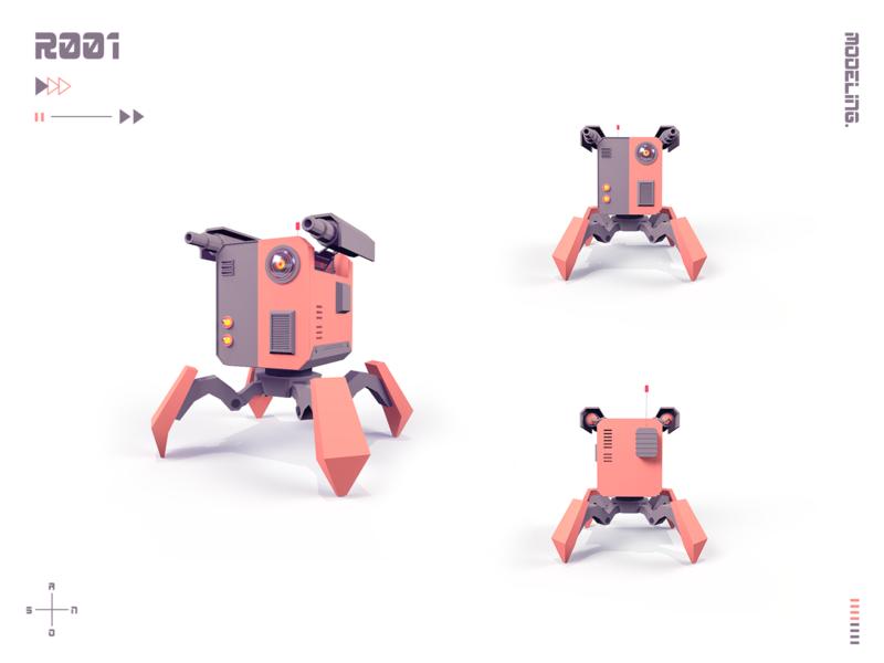 Robot 1 machine robot 3d art model low poly lowpoly 3d