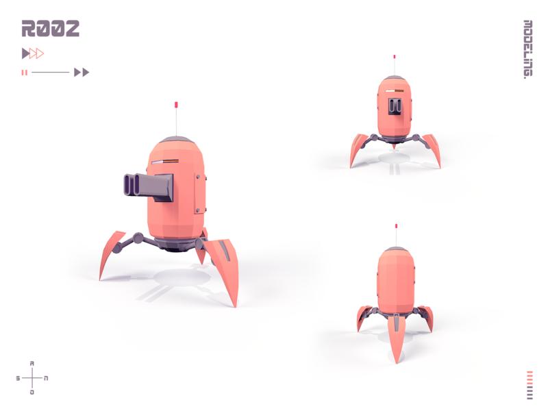 Robot  2 machine lowpoly illustration 3d art 3d