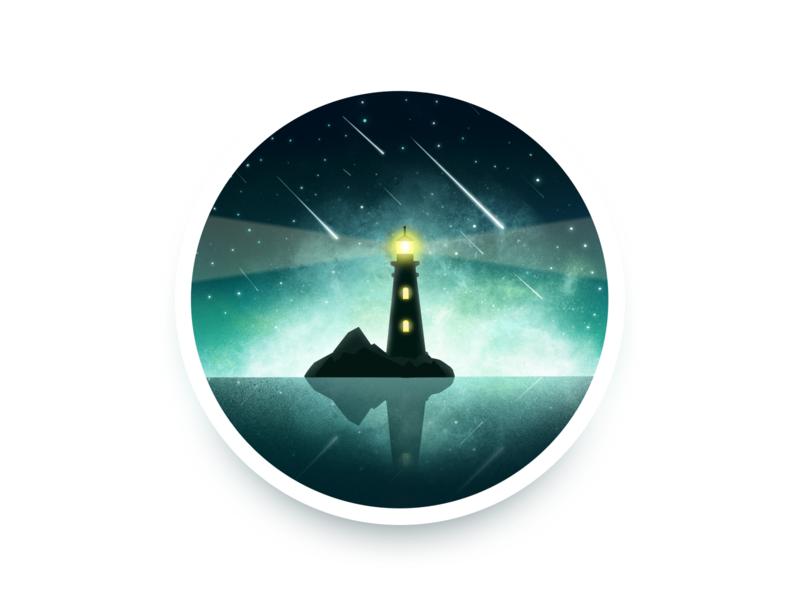 lighthouse procreate illustration