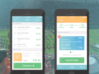 Cart + Payment Screen