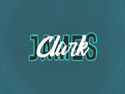 Clark James Lettering