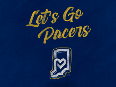 Pacer Playoff Lettering & Heart Land Logo