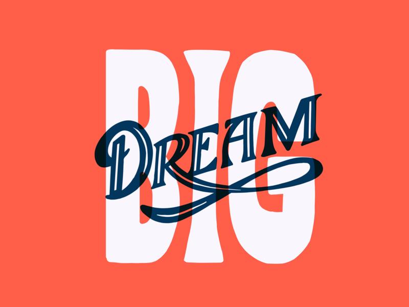 Dream BIG ipad lettering big dream lettering