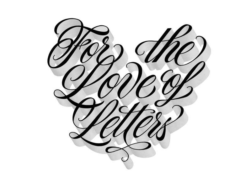For the Love of Letters Reverse ipad lettering hand lettering lettering