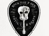 RTFO Skull Guitar / Pick Crest