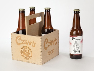 Czann's 4-Pack packaging design illustration beer brewery czanns label laser-cut logo branding