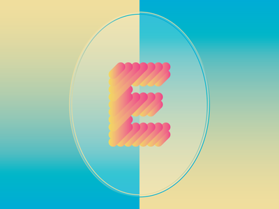 """E"" type type design e abstract vector gradient experimental geometric"