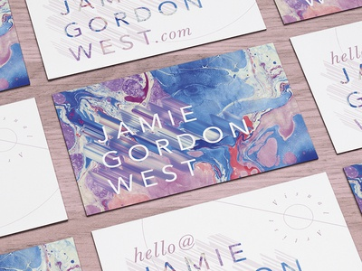 JGW - Business Card Concept print collateral business cards marbled paper branding