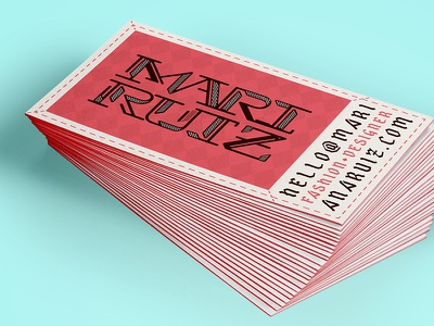 Mari Ruiz - Business Card logo branding business card collateral print lettering type type design geometric pattern