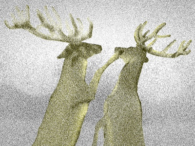 Dear duotone deer animals illustration