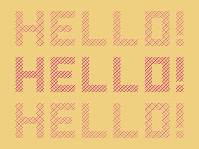 Criss-Cross hello geometric vector lettering type design type