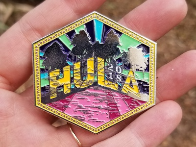 Hulaween 2018 Pin Design illustration design pin music festival music enamel pin