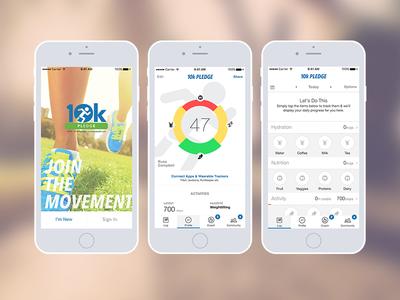 10k App healthy app ui exercise run