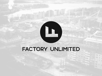Factory Unlimited logo industry factory f
