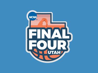 Utah Final Four logo basketball utah ncaa march madness final four