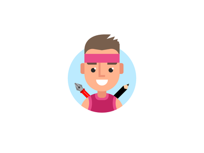 Dribbble me!! smile me illustration icon happy fun flat cute cool colorful dribbble avatar