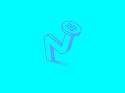 Typehue N (Nailed it) Week 14 typehue challenge design icon letter weekly nail nailed fun cartoon