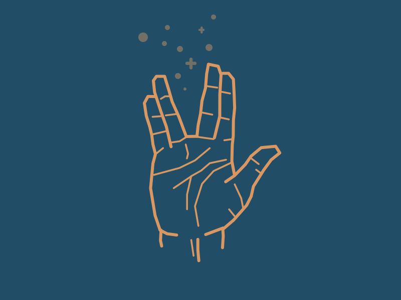 Typehue V - Vulcan Salute spock vulcan star trek weekly letter icon design challenge typehue