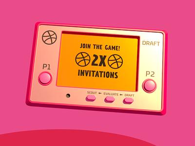 2X Dribbble Invites! animation prospect ticket dribbble invite draft invitation invites game invitations giveaway dribbble invite