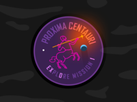 Proxima Centauri B - Mission Patch 2 scifi science star trek frontier sun illustration exoplanet exploration space solar system rocket patch design nasa esa design crew centaur astronaut dribbbleweeklywarmup
