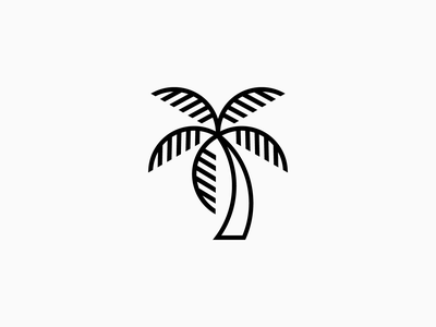 Palm Tree sharp geometric black vector art vector modern minimal cool outlines outline stroke branding brand logo icon beach tropical palm tree tree palm