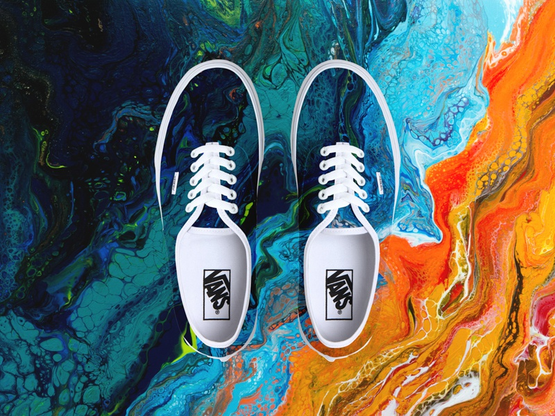 Vans x San Elijo beach abstract brand painting art photoshop design lifestyle footwear