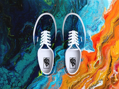 Vans x San Elijo beach abstract brand painting art photoshop design lifestyle footwear